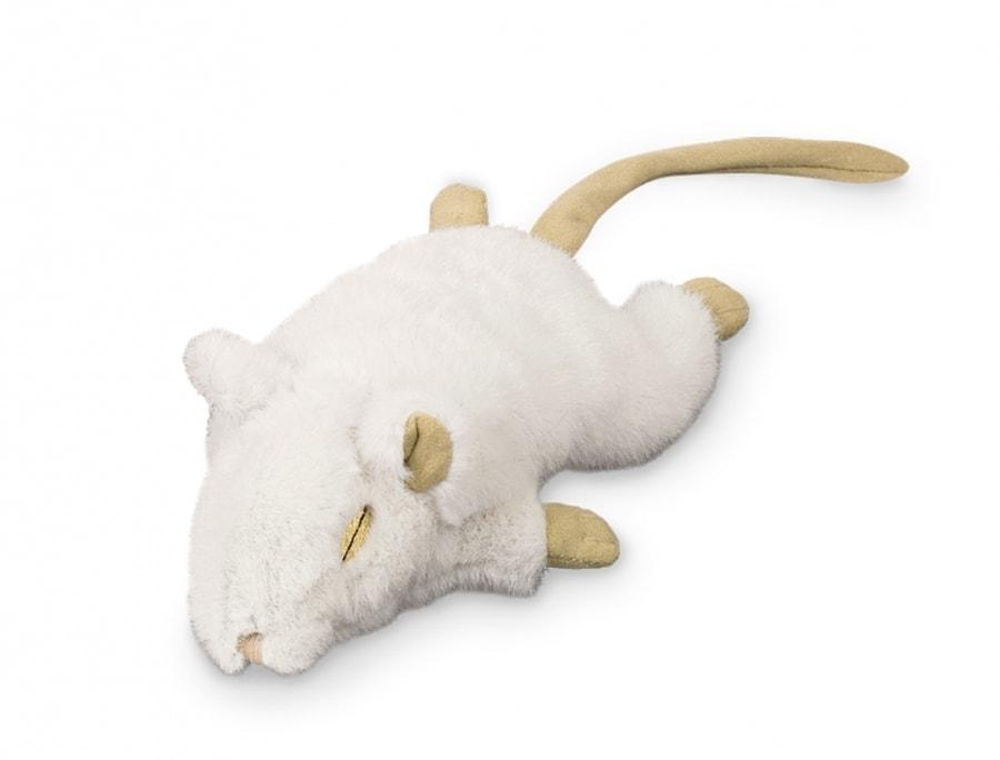 59601cc1128 Nobby plyšová myška s šustivým tělem a kočičí šantou - 19cm bílá 1ks ...