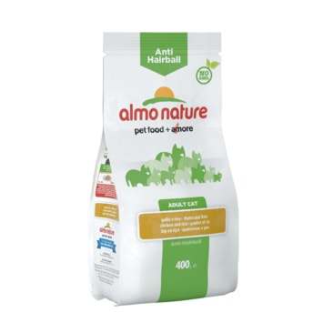 Almo Nature Functional Dry - Anti-Hairball Kuře a rýže 400g