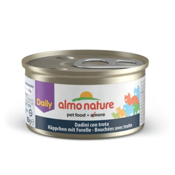 Almo Nature Daily Menu WET CAT - Kousky se pstruhem 85g