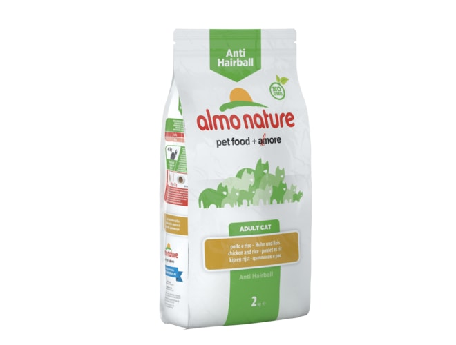 Almo Nature Functional Dry - Anti-Hairball Kuře a rýže 2kg