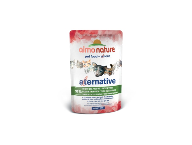 1+1 zdarma - Almo Nature Alternative WET CAT - Pacifický tuňák 55g - expirace 9/9/2017