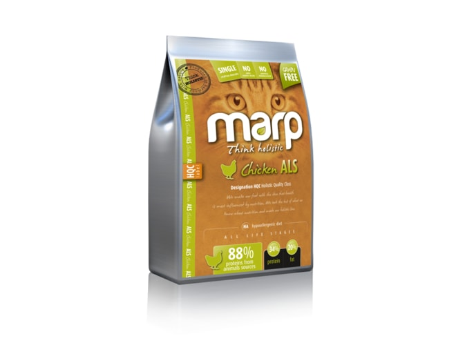 Marp Holistic - Chicken CAT 12kg  + Marp Pure Salmon CAT Can Food 370g ZDARMA