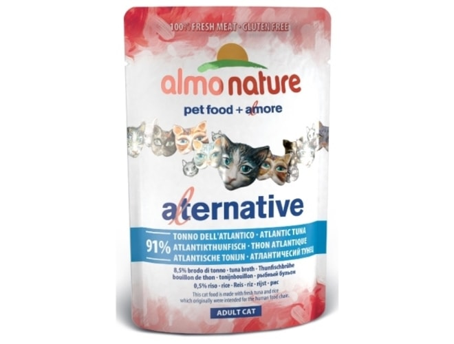 Almo Nature Alternative WET CAT - Atlantský tuňák 55g 3+1 zdarma