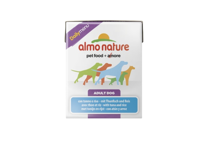 Almo Nature Daily Menu WET DOG - Tuňák a rýže 375g tetrapack