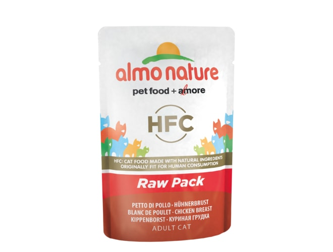 Almo Nature Classic Raw Pack WET CAT - Kuřecí prsa 55g